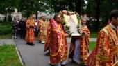 В Воскресенском Новодевичьем монастыре Петербурга молитвенно отпраздновали 15-летие обретения мощей священномученика Илариона Верейского