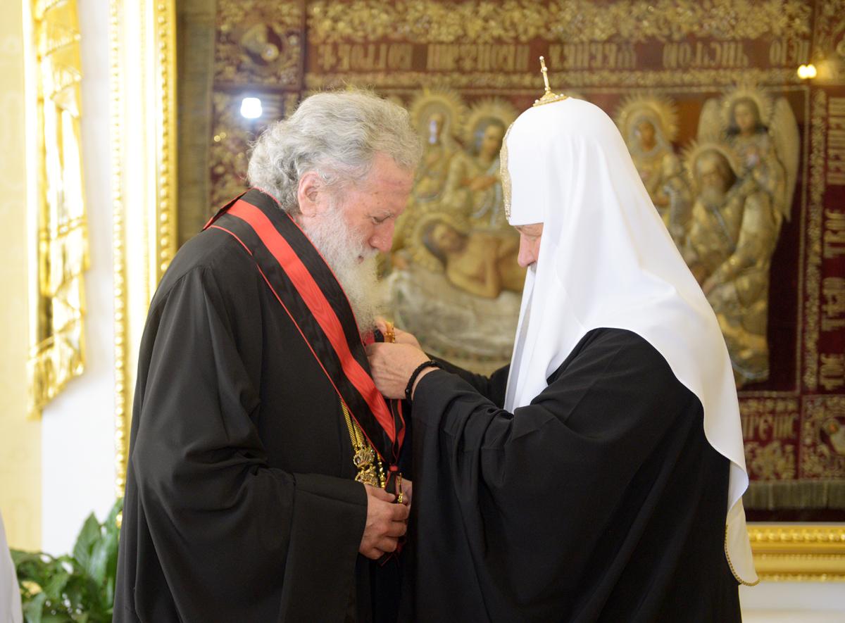 Встреча Святейшего Патриарха Кирилла с делегацией Болгарской Православной Церкви