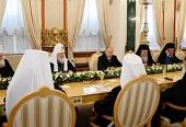 Стенограмма начала встречи Президента России В.В. Путина с Предстоятелями и представителями Поместных Православных Церквей