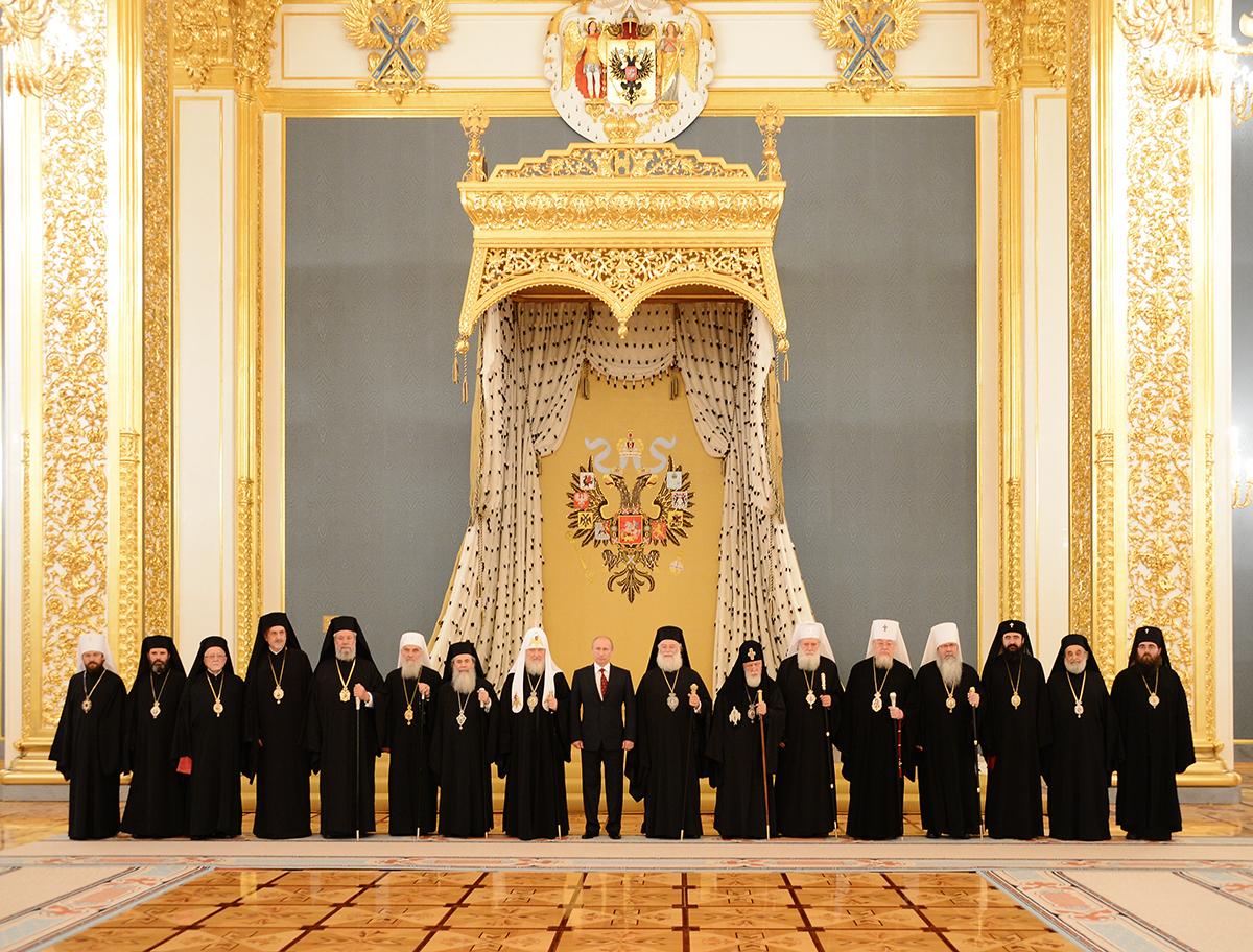 Встреча Президента России В.В. Путина с Предстоятелями и представителями Поместных Православных Церквей