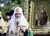 Слово Святейшего Патриарха Кирилла после молебна на Владимирской горке в Киеве