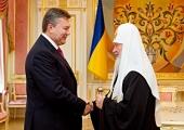 Состоялась встреча Святейшего Патриарха Кирилла с Президентом Украины В.Ф. Януковичем