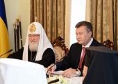 Встреча Президента Украины В.Ф. Януковича с Предстоятелями Поместных Православных Церквей