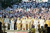 В день памяти равноапостольного князя Владимира Предстоятели и иерархи Поместных Православных Церквей совершили Литургию в Киево-Печерской лавре