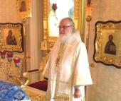 В день памяти преподобного Серафима Саровского Святейший Патриарх Кирилл совершил Божественную литургию в домовом храме Патриаршей резиденции в Переделкине
