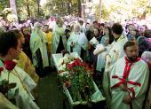 В Пскове состоялось отпевание и погребение протоиерея Павла Адельгейма