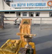 Корабль-храм «Святой апостол Андрей Первозванный» вышел в миссионерский поход по Оби