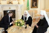 Святейший Патриарх Кирилл встретился с губернатором Ярославской области С.Н.Ястребовым