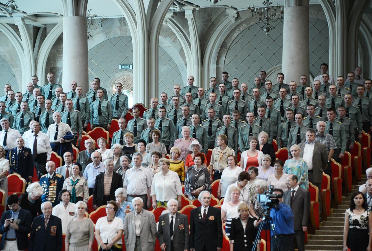 Встреча с ветеранами в Храме Христа Спасителя, посвященная 70-летию Курской битвы