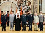 В Храме Христа Спасителя прошла встреча Святейшего Патриарха Кирилла с ветеранами, посвященная 70-летию Курской битвы