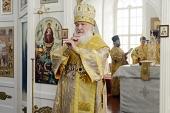 Святейший Патриарх Кирилл совершил освящение Вознесенского храма на Секирной горе на Соловках