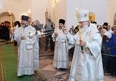 Предстоятель Русской Церкви совершил всенощное бдение в Преображенском соборе Соловецкого монастыря
