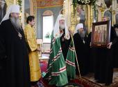 Святейший Патриарх Кирилл посетил Вознесенский кафедральный собор г. Новосибирска