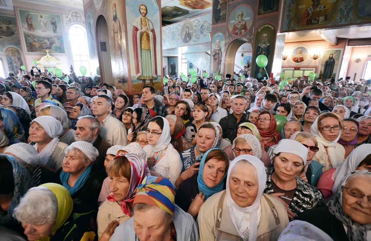 Патриарший визит в Новосибирскую митрополию. Посещение Вознесенского собора г. Новосибирска