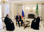 Состоялась встреча Святейшего Патриарха Кирилла с губернатором Новосибирской области В.А. Юрченко