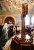 Патриарший визит в Кузбасскую митрополию. Освящение храма Рождества Христова г. Новокузнецка. Божественная литургия