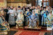 В праздник Успения Пресвятой Богородицы Предстоятель Русской Церкви совершил Литургию в Успенском соборе Московского Кремля