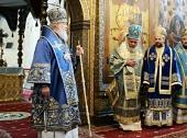Слово Святейшего Патриарха Кирилла в праздник Успения Пресвятой Богородицы после Литургии в Успенском соборе Московского Кремля