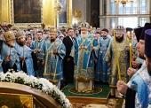 Предстоятель Русской Церкви совершил всенощное бдение в Успенском соборе г. Смоленска