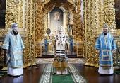 В праздник Донской иконы Божией Матери Предстоятель Русской Церкви совершил Литургию в Успенском кафедральном соборе Смоленска