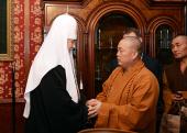 Состоялась встреча Святейшего Патриарха Кирилла с настоятелем монастыря Шаолинь
