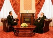 Святейший Патриарх Кирилл встретился с лидером Либерал-демократической партии Молдовы Владом Филатом