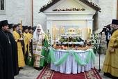Предстоятель Русской Православной Церкви посетил Успенский Каприянский монастырь