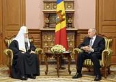 Святейший Патриарх Кирилл встретился с Президентом Республики Молдова Николаем Тимофти