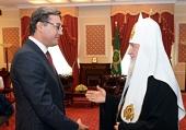Святейший Патриарх Кирилл встретился с председателем Парламента Республики Молдова Игорем Корманом