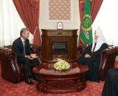 Святейший Патриарх Кирилл встретился с премьер-министром Молдовы Юрием Лянкэ