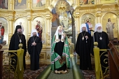 Святейший Патриарх Кирилл посетил Вознесенский Ново-Нямецкий монастырь