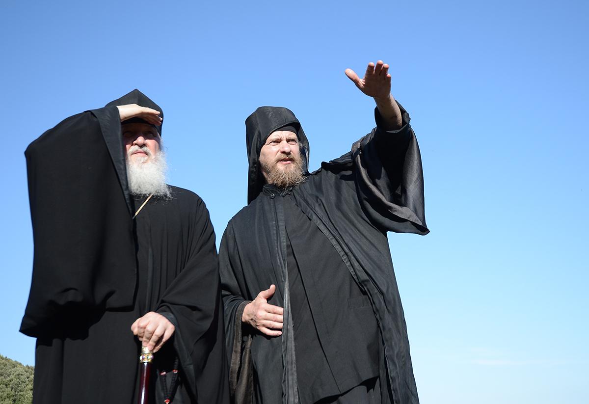 Визит Святейшего Патриарха Кирилла в Грецию. Посещение скита Ксилургу