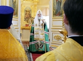 Слово Святейшего Патриарха Кирилла после освящения храма святых праведных Симеона Богоприимца и Анны Пророчицы в Петербурге