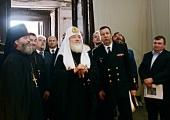 Святейший Патриарх Кирилл посетил храм в честь иконы Божией Матери «Милующая» в Петербурге