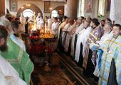 Верующие Хустской епархии простились со своим первым архипастырем — епископом Мефодием (Петровцы)