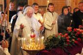 Митрополит Новгородский Лев совершил отпевание санитарки Юлии Ануфриевой, погибшей при пожаре в психоневрологическом интернате «Оксочи»