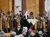 Святейший Патриарх Кирилл принял участие в торжествах по случаю освящения храмового комплекса Армянской Апостольской Церкви в Москве