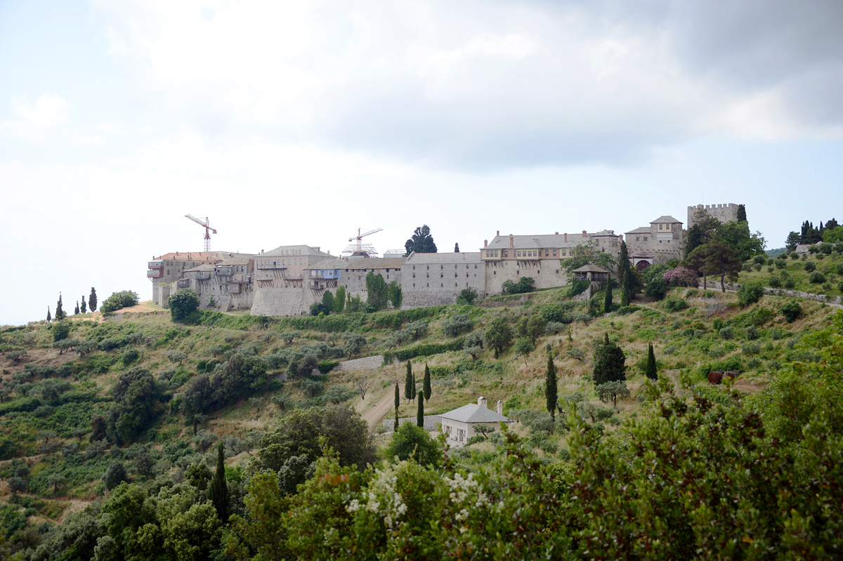 Визит Святейшего Патриарха Кирилла в Грецию. Посещение Великой Лавры преподобного Афанасия Афонского