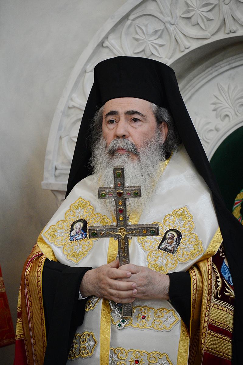 Встреча Святейшего Патриарха Кирилла с Блаженнейшим Патриархом Иерусалимским Феофилом
