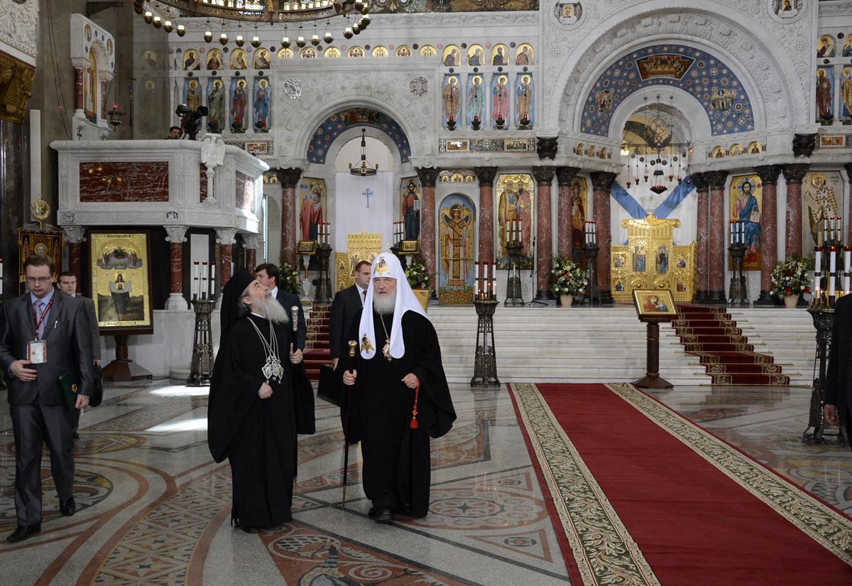 Освящение Никольского Морского собора в Кронштадте