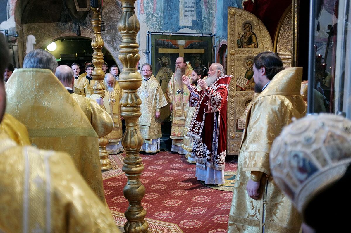 Патриаршее служение в день 400-летия избрания на царство Михаила Федоровича Романова