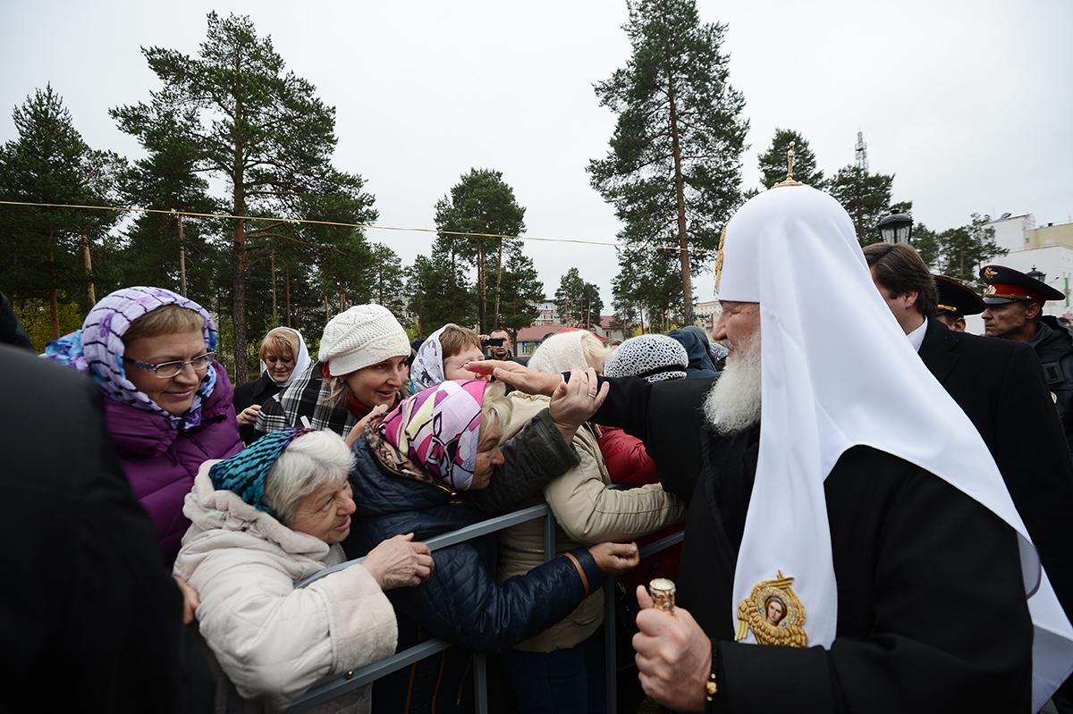 Патриарший визит в Ханты-Мансийскую епархию. Посещение подворья Свято-Успенского Пюхтицкого монастыря в Когалыме