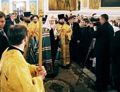 Святейший Патриарх Кирилл посетил Петропавловский храм г. Томска