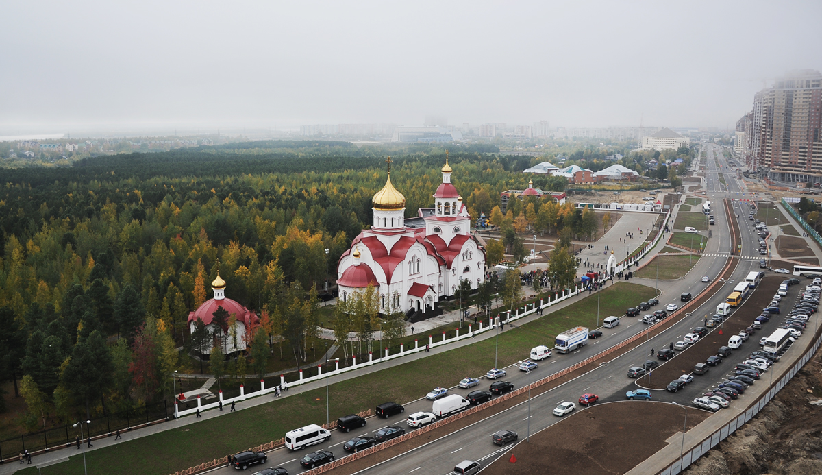 Патриарший визит в Ханты-Мансийскую епархию. Освящение Георгиевского храма в Сургуте