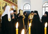 Святейший Патриарх Кирилл посетил Богородице-Алексиевский монастырь в Томске