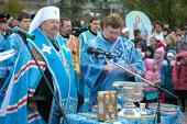 В Красноярске состоялась церемония закладки Богородице-Рождественского кафедрального собора