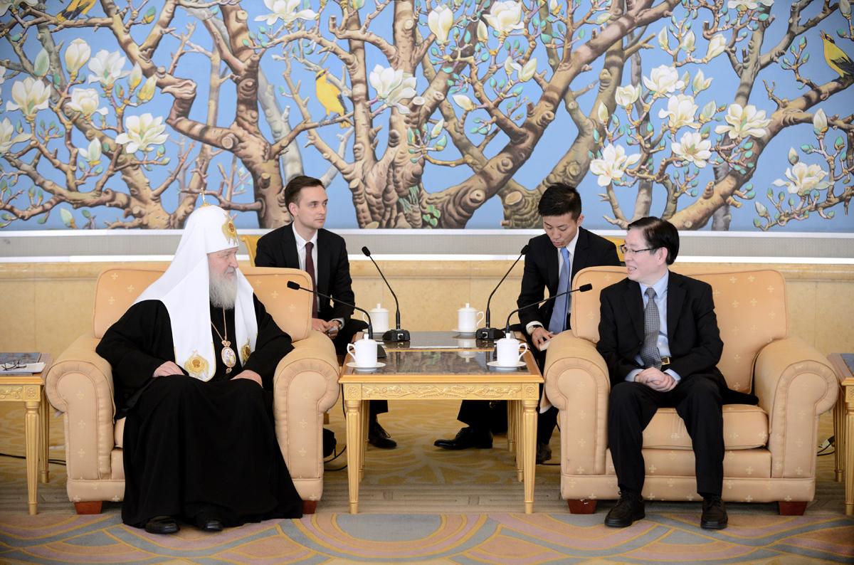 Встреча с директором Государственного управления по делам религий при Государственном Совете Китайской Народной Республики Ван Цзоанем