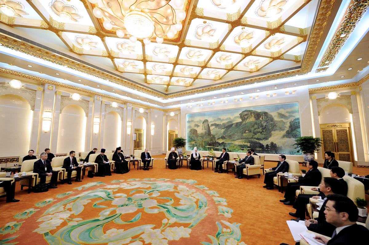 Патриарший визит в Китай. Встреча с Председателем КНР Си Цзиньпином
