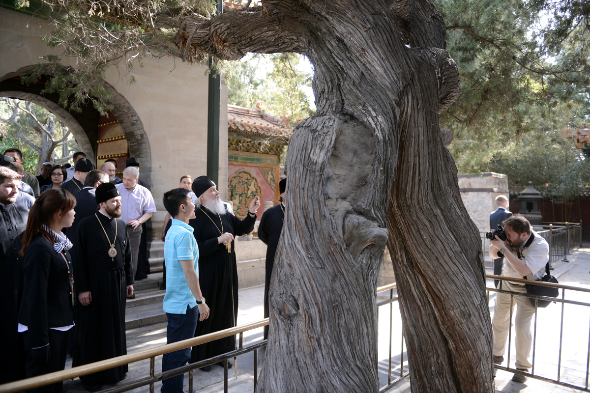 Патриарший визит в Китай. Посещение бывшего Императорского дворца в Пекине