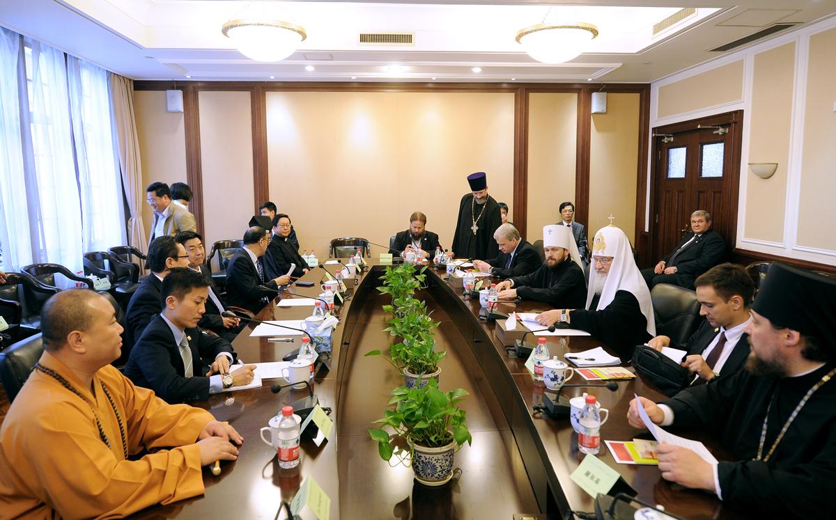 Встреча с религиозными лидерами Китая в г.Шанхае